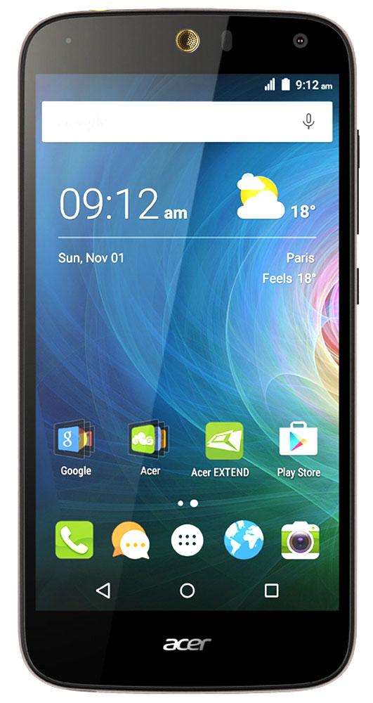 Acer Liquid Z630S, Black GoldZ630S Black-Gold LTEОцените возможности смартфона Acer Liquid Z630S: продолжительное время автономной работы, превосходную производительность и высочайшее качество изображения на 5.5 HD-дисплее с технологией IPS. Мощный восьмиядерный процессор обеспечивает быстрое время отклика, удобство работы в браузере, плавное воспроизведение видео и прохождение видеоигр на великолепном 5,5 HD-экране. Батарея 4000 мАч и память 32 ГБ обеспечат заряд на весь день и достаточно места для коллекции фотографий и видео. Удивите своих друзей. Снимите общее сэлфи высокого качества на камеру с широким углом съемки, просто сказав Чиз. Снимки сэлфи с разрешением 8 МП будут прекрасно смотреться на дисплее с технологией IPS, которая обеспечивает высокое качество изображения под любым углом обзора. Заряжайте телефоны друзей с помощью своего мобильного устройства через порт MicroUSB. Кроме того, вы можете подключить к этому порту флэш-накопитель USB, чтобы воспроизводить...