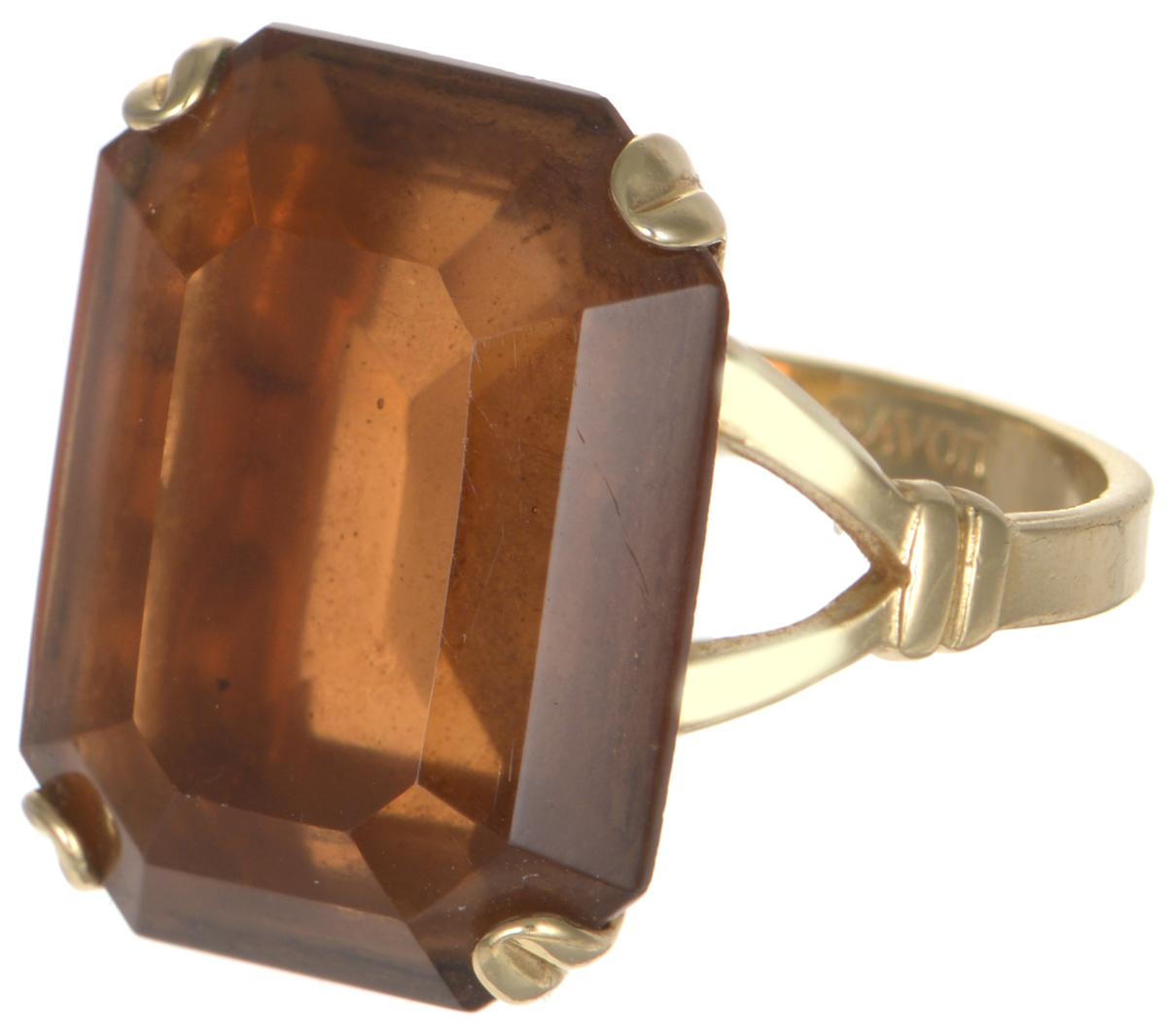 Винтажное кольцо-перстень Герцогиня от Avon. Ювелирный сплав золотого тона, крупный кристалл медового цвета. США, 1970-е годыT-B-8681-RING-BR.MULTIВинтажное кольцо-перстень Герцогиня от Avon. Ювелирный сплав золотого тона, крупный кристалл медового цвета. США, 1970-е годы. Размер кольца 18 Размер декоративного элемента: 1,5 х 2 см. Сохранность отличная. На внутренней стороне кольца стоит клеймо: Avon.