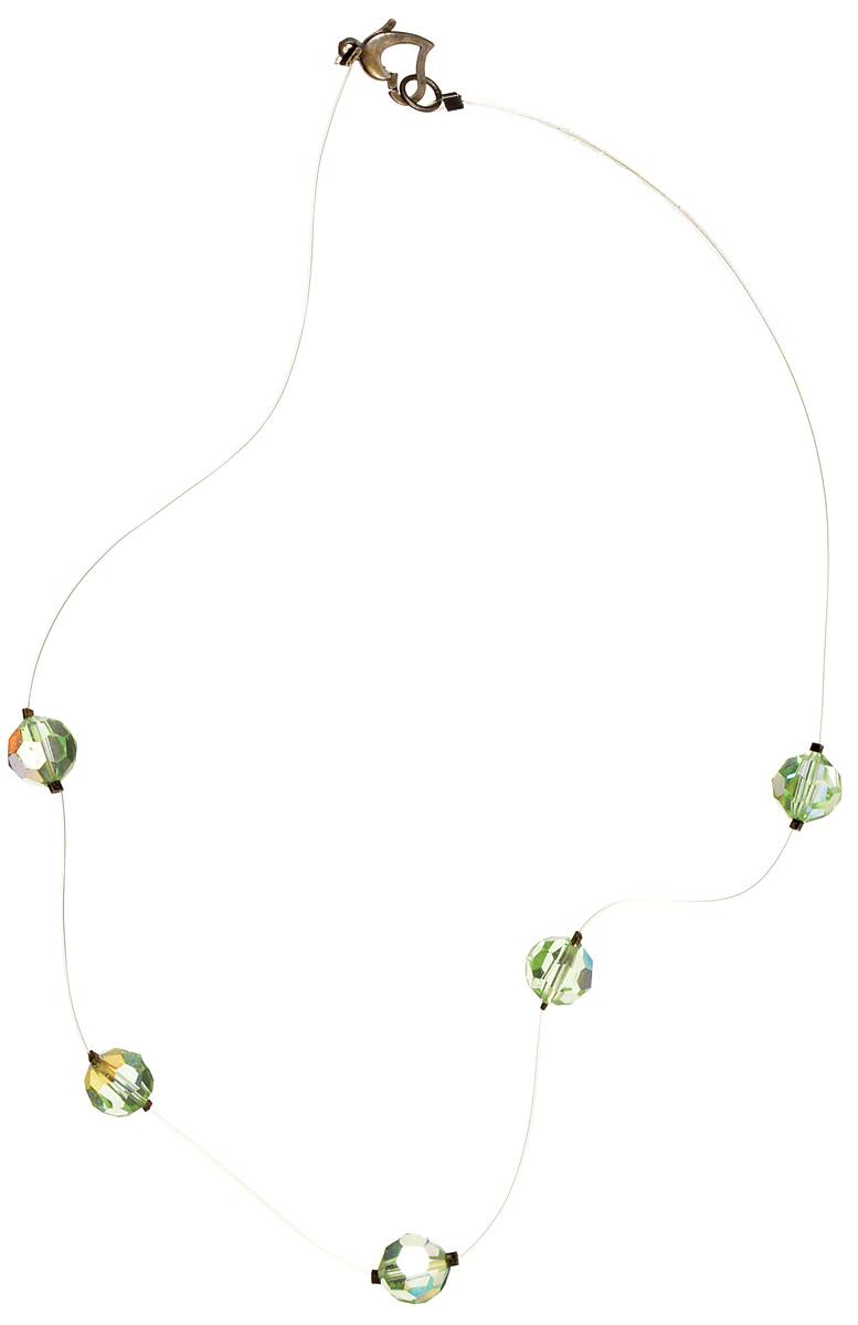 Винтажное колье Весенняя роса. Хрустальные бусины светло-зеленоватого тона с эффектом Аврора Бореалис, леска, металл. США, 1970-е годы10100311Винтажное колье Весенняя роса. Хрустальные бусины светло-зеленоватого тона с эффектом Аврора Бореалис, леска, замочек - металл. США, 1970-е годы. Длина колье 38 см. Сохранность хорошая.