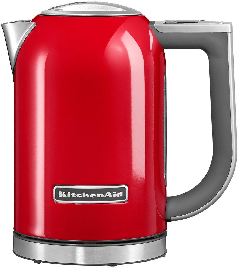 KitchenAid 5KEK1722EER, Red чайник электрический5KEK1722EERЭлектрический чайник KitchenAid 5KEK1722EER объемом 1,7 литра - раскроет все ароматы любимого чая. В этом чайнике прекрасно сочетаются функциональность, элегантность и практичность. А различные цвета позволяют сочетать его с любым интерьером Вашей кухни. Давайте подробно рассмотрим его особенности: Емкость объемом 1,7 л. Можно использовать для приготовления большого количества воды Цифровой дисплей с 6 температурными режимами от 50° C до 100° C. Выберите подходящую температуру: горячая или кипящая для напитков и бульонов Умный индикатор температуры. Покажет актуальную температуру воды на дисплее, даже когда чайник не находится на своем основании Функция сохранения температуры. Поддерживает желаемую температуру в течение 30 минут, находясь на основании Стальной корпус с мягкой нескользящей ручкой. Надежный, прочный и удобный в использовании