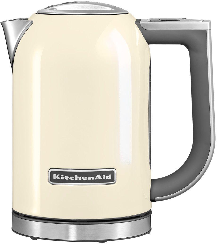 KitchenAid 5KEK1722EAC, Cream чайник электрический5KEK1722EACЭлектрический чайник KitchenAid 5KEK1722EAC объемом 1,7 литра - раскроет все ароматы любимого чая. В этом чайнике прекрасно сочетаются функциональность, элегантность и практичность. А различные цвета позволяют сочетать его с любым интерьером Вашей кухни. Давайте подробно рассмотрим его особенности: Емкость объемом 1,7 л. Можно использовать для приготовления большого количества воды Цифровой дисплей с 6 температурными режимами от 50° C до 100° C. Выберите подходящую температуру: горячая или кипящая для напитков и бульонов Умный индикатор температуры. Покажет актуальную температуру воды на дисплее, даже когда чайник не находится на своем основании Функция сохранения температуры. Поддерживает желаемую температуру в течение 30 минут, находясь на основании Стальной корпус с мягкой нескользящей ручкой. Надежный, прочный и удобный в использовании