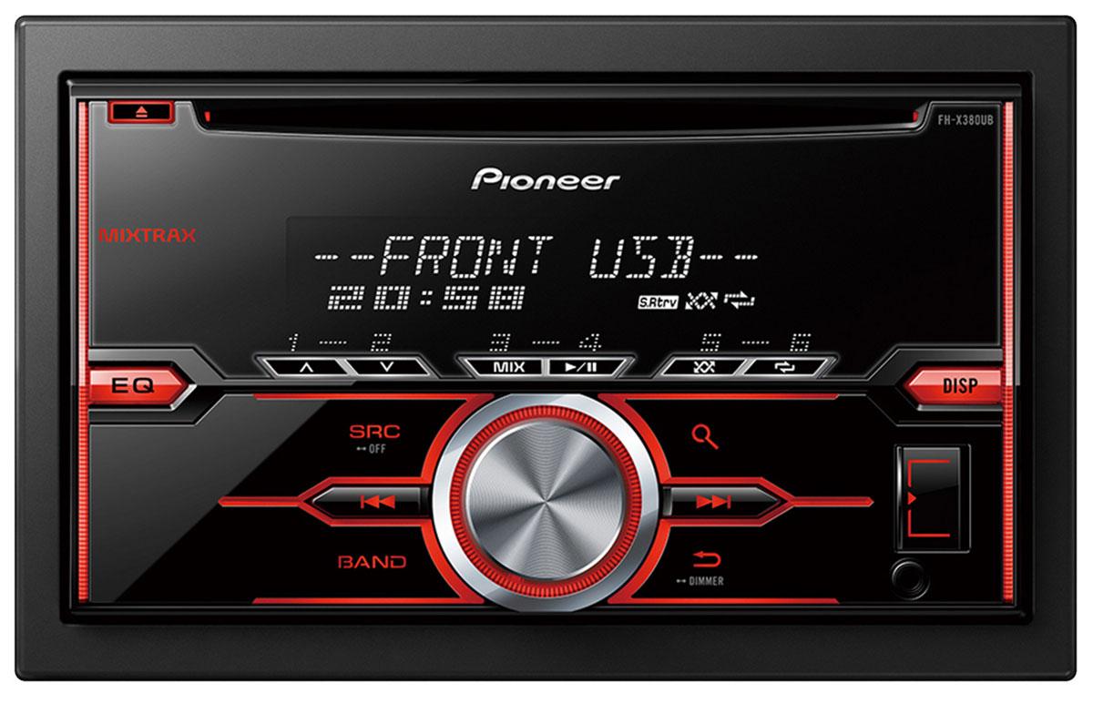 Pioneer FH-X380UB автомобильный ресивер10242982DIN ресивер Pioneer FH-X380UB позволит вам воспроизвести музыку, сохраненную на USB, CD, а так же с подключенного Android смартфона. Вы также можете принимать широкий диапазон радиостанций FM и AM диапазона. Pioneer FH-X380UB оснащен встроенным усилителем на полевых транзисторах MOSFET с выходной мощностью 50 Вт на каждый из 4-х каналов. У этой автомобильной аудиосистемы также есть 2 RCA выхода предусилителя, что позволяет подключать к ней другие компоненты, такие как сабвуфер или дополнительный усилитель с тыловыми или фронтальными акустическими системами.