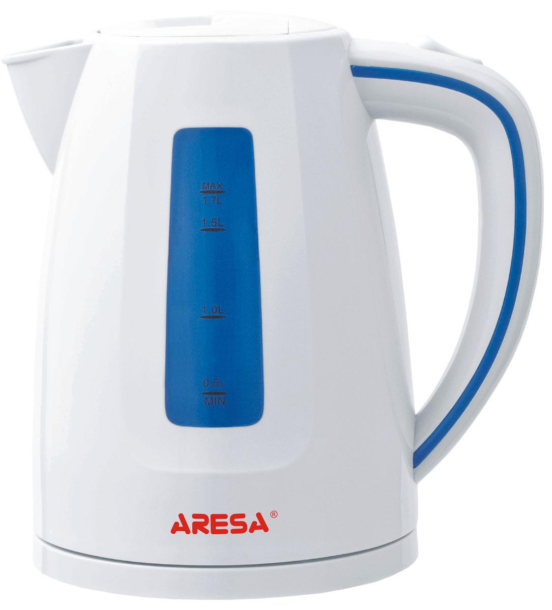 Aresa AR-3403 чайник электрическийAR-3403Электрический чайник Aresa AR-3403 мощностью 2000 Вт и объемом 1,7 литра отвечает всем современным требованиям надежности и безопасности. При его производстве используются только высококачественные и экологически безопасные материалы, а также нагревательный элемент и контроллеры высокого класса надежности. Устройство будет служить вам долгие годы, наполняя ваш быт комфортом!