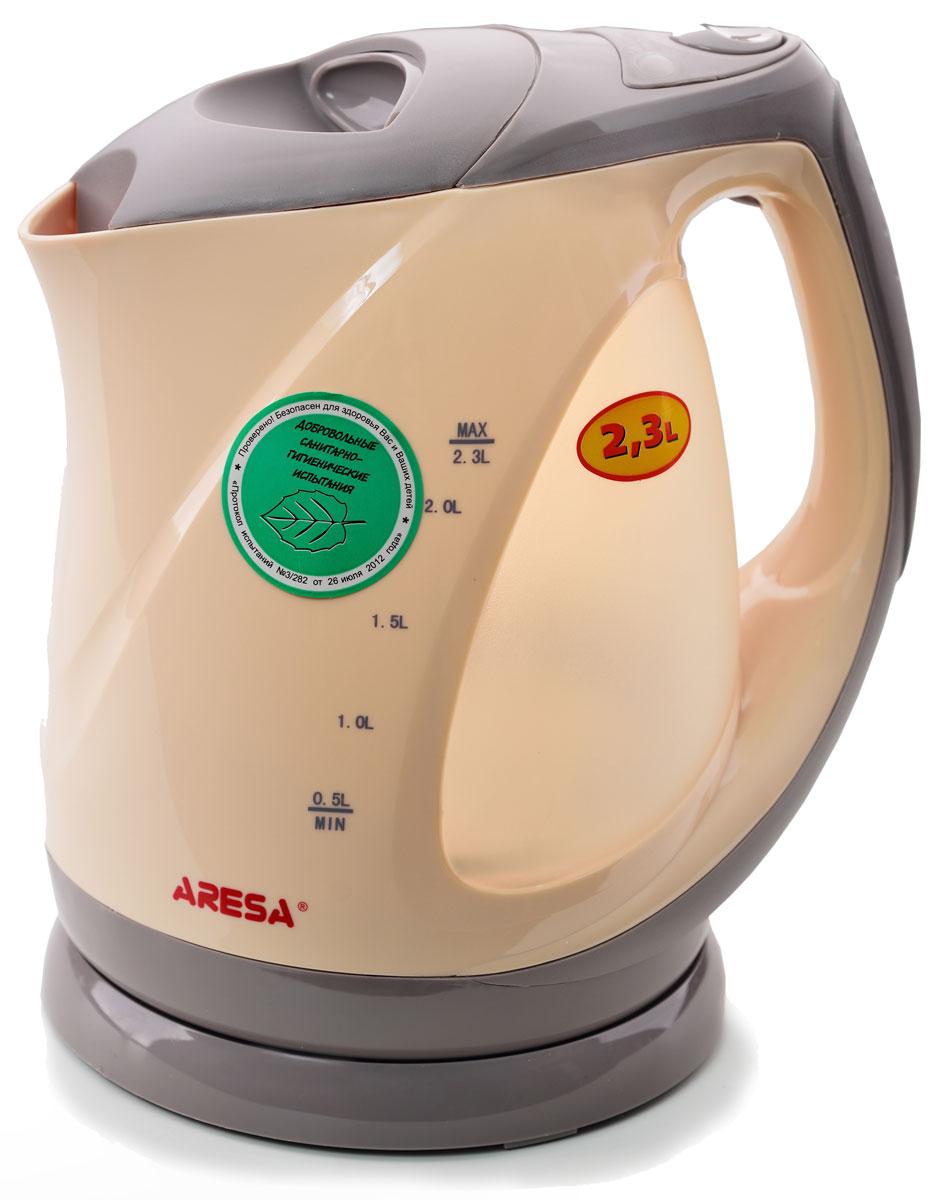 Aresa AR-3411 чайник электрическийAR-3411Электрический чайник Arsea AR-3411 мощностью 2000 Вт и объемом 2,3 литра отвечает всем современным требованиям надежности и безопасности. При его производстве используются только высококачественные и экологически безопасные материалы, а также нагревательный элемент и контроллеры высокого класса надежности. Устройство будет служить вам долгие годы, наполняя ваш быт комфортом!