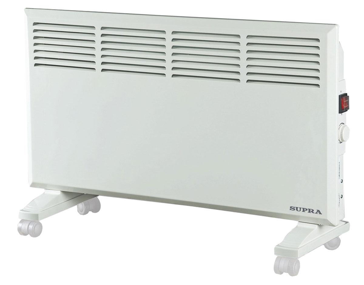 Supra ECS-415, White обогревательECS-415 whiteSupra ECS-415 - это электрический обогреватель конвективного типа. Холодный воздух, проходя через прибор и его нагревательный элемент, нагревается и выходит сквозь решетки-жалюзи, незамедлительно начиная обогревать помещение. Вся конструкция Supra ECS-415 направлена на равномерное распределение тепла для обогрева с максимальным комфортом. Бесшумная работа. В комплекте монтажная планка для настенного крепления и колёсики для напольного размещения и удобного перемещения.