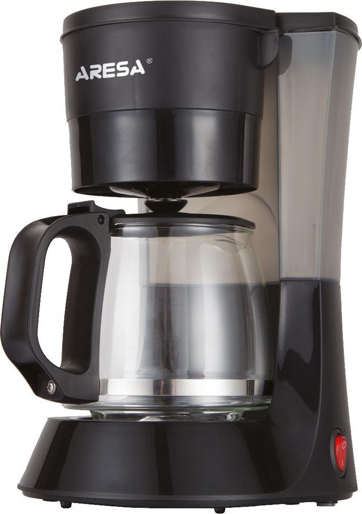 Aresa AR-1603 кофеваркаAR-1603Капельная кофеварка Aresa AR-1603 имеет емкость 600 мл и колбу из жаропрочного стекла. С ней вы сможете приготовить от 4 до 6 чашек превосходного кофе. Модель оснащена съемным моющимся фильтром с держателем, индикатором уровня воды, а также световым индикатором работы. Функция теплосохранения готового кофе позволит сохранить приемлемую температуру приготовленного напитка.