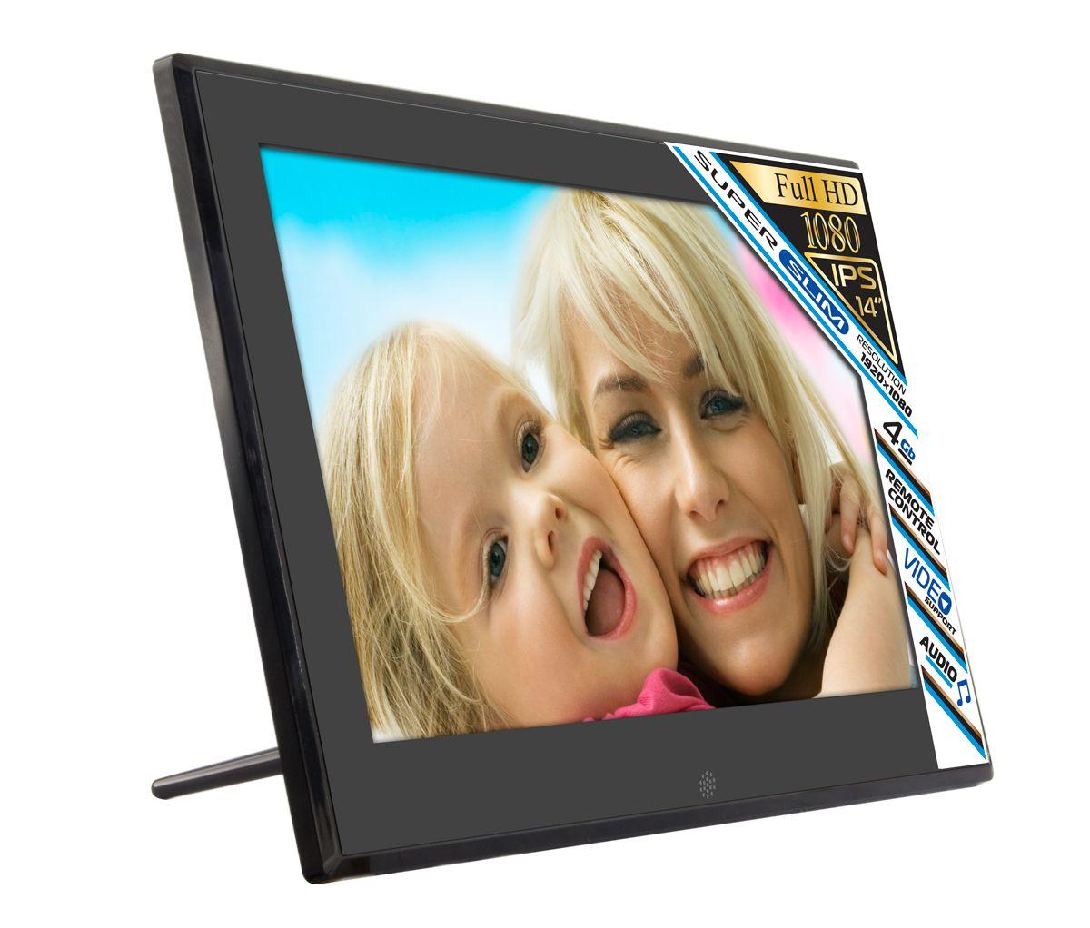 Rekam VisaVis L-147 цифровая фоторамка2103000140VisaVis 147 – цифровая рамка с большим экраном (14,0) в стильном, тонком корпусе. Благодаря поддержке самых распространенных мультимедийных форматов фоторамку можно использовать для просмотра видеороликов. Звук может выводиться через наушники или встроенные динамики. 4 Гб встроенной памяти хватает для хранения большого объема данных. При необходимости память может быть расширена при помощи съемных карт памяти до 32 Гб. Конструкция рамки позволяет установить ее на столе или повесить на стену. Высокое разрешение экрана (1920x1080 пикселей) позволяет изображению отлично выглядеть вблизи и на расстоянии. Пульт дистанционного управления делает работу с устройством очень удобной. Режим слайд-шоу с большим набором эффектов превратит любой фотоархив в яркую презентацию.