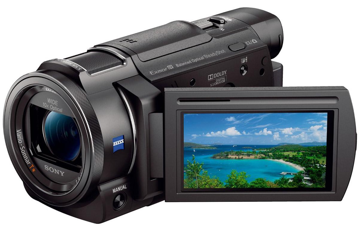 Sony FDR-AX53 цифровая видеокамераFDRAX53B.CEEЗапечатлейте яркие моменты и эмоции, не теряйте оригинального взгляда на мир. Благодаря видеокамере Sony FDR-AX53 воспоминания навсегда останутся с вами. Технология стабилизации изображения Balanced Optical SteadyShot и быстрый интеллектуальный АФ позволяет добиваться точного результата согласно первоначальной задумке. Микрофон новой конструкции обеспечивает запись объемного звука для передачи окружающей атмосферы. Кроме того, можно экспериментировать с замедленной и ускоренной съемкой и управлением усиления благодаря профессиональным функциям и ручной настройке параметров. Возможности этой камеры для творчества безграничны. Объектив ZEISS Vario-Sonnar T с фокусным расстоянием 26,8 мм в максимальном широкоугольном положении позволяет захватить в кадр больше. Увеличенная площадь каждой светочувствительной ячейки повышает чувствительность матрицы и позволяет вести съемку даже в темноте. Эффективная работа привода системы АФ и передовая система...