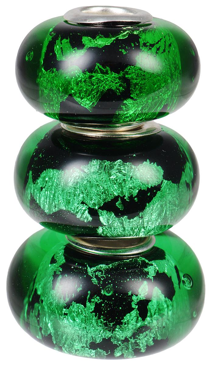 Европейские бусины Брызги Келимуту, 3 штуки, цвет: зеленый. Ручная авторская работа. PDD002PDD002Яркие бусины ручной работы Мгновения Магади не оставят вас равнодушной, благодаря своему дизайну. Они изготовлены из стекла, а металлическая фурнитура выполнена в стиле Пандора. Такие бусины помогут вам создать свои собственные оригинальные украшения.