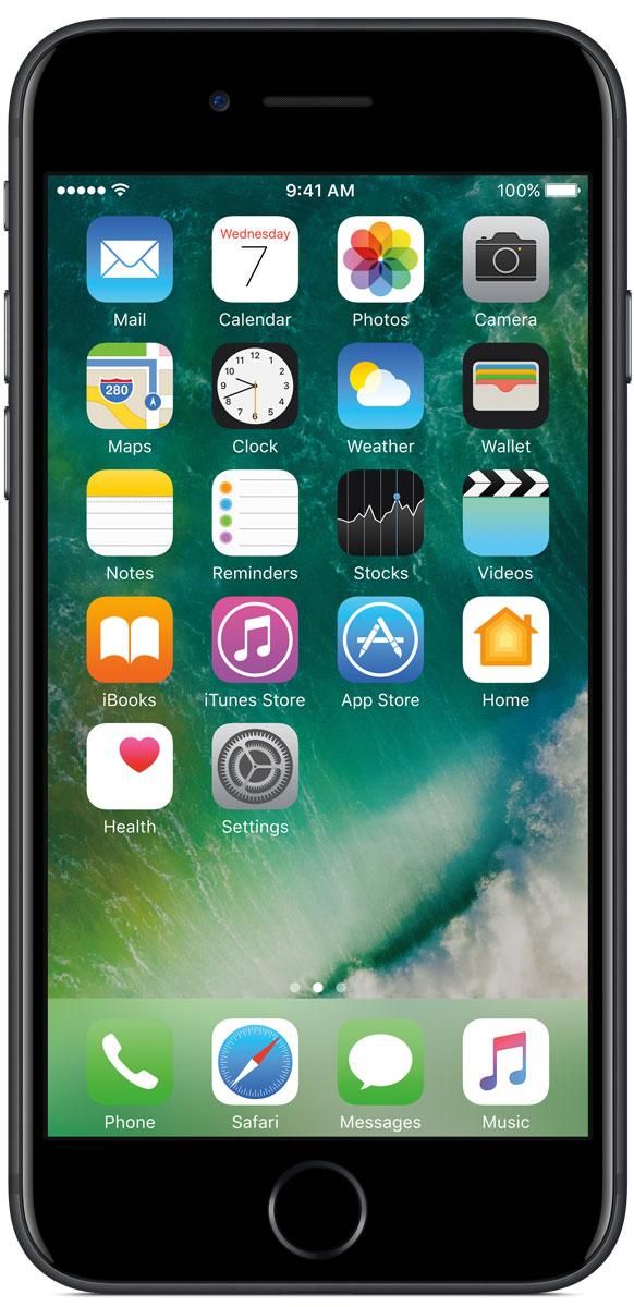 Apple iPhone 7 128GB, BlackMN922RU/AiPhone 7 оснащен великолепной камерой, которая позволяет делать невероятные снимки. Этот телефон обладает высокой производительностью и самым долговечным аккумулятором среди всех моделей iPhone, великолепными стереодинамиками, системой широкой цветопередачи от камеры на экран. Для iPhone 7 доступны два новых великолепных цвета корпуса, а также обеспечивается защита от воды и пыли. В iPhone 7 встроена самая популярная в мире камера. Благодаря совершенно новым функциям она стала ещё лучше. 12-мегапиксельная камера в iPhone 7 оснащена системой оптической стабилизации изображения, обладает высокой светосилой f/1.8 и 6-элементным объективом для съёмки ярких фотографий и видео с высоким разрешением. Расширенный цветовой диапазон позволяет фиксировать яркие цвета во всех деталях. Другие усовершенствования камеры Новый процессор обработки сигнала изображения, созданный Apple, выполняет более 100 миллиардов операций на одной фотографии всего за 25 миллисекунд. Это...