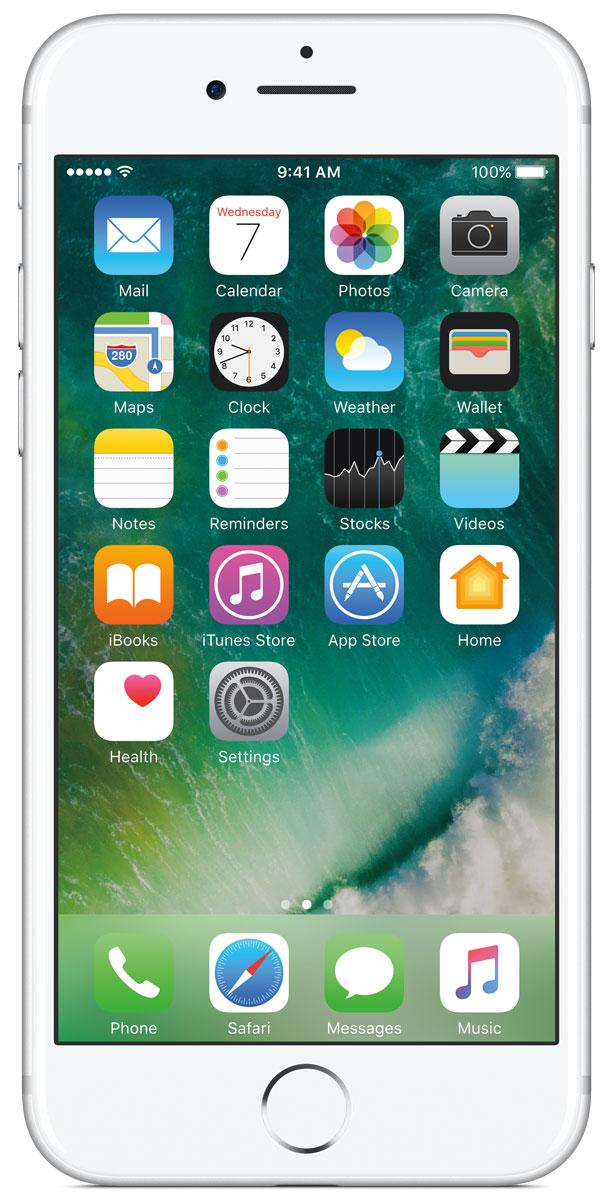 Apple iPhone 7 256GB, SilverMN982RU/AiPhone 7 оснащен великолепной камерой, которая позволяет делать невероятные снимки. Этот телефон обладает высокой производительностью и самым долговечным аккумулятором среди всех моделей iPhone, великолепными стереодинамиками, системой широкой цветопередачи от камеры на экран. Для iPhone 7 доступны два новых великолепных цвета корпуса, а также обеспечивается защита от воды и пыли. В iPhone 7 встроена самая популярная в мире камера. Благодаря совершенно новым функциям она стала ещё лучше. 12-мегапиксельная камера в iPhone 7 оснащена системой оптической стабилизации изображения, обладает высокой светосилой f/1.8 и 6-элементным объективом для съёмки ярких фотографий и видео с высоким разрешением. Расширенный цветовой диапазон позволяет фиксировать яркие цвета во всех деталях. Другие усовершенствования камеры Новый процессор обработки сигнала изображения, созданный Apple, выполняет более 100 миллиардов операций на одной фотографии всего за 25 миллисекунд. Это...