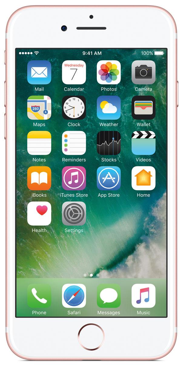 Apple iPhone 7 32GB, Rose GoldMN912RU/AiPhone 7 оснащен великолепной камерой, которая позволяет делать невероятные снимки. Этот телефон обладает высокой производительностью и самым долговечным аккумулятором среди всех моделей iPhone, великолепными стереодинамиками, системой широкой цветопередачи от камеры на экран. Для iPhone 7 доступны два новых великолепных цвета корпуса, а также обеспечивается защита от воды и пыли. В iPhone 7 встроена самая популярная в мире камера. Благодаря совершенно новым функциям она стала ещё лучше. 12-мегапиксельная камера в iPhone 7 оснащена системой оптической стабилизации изображения, обладает высокой светосилой f/1.8 и 6-элементным объективом для съёмки ярких фотографий и видео с высоким разрешением. Расширенный цветовой диапазон позволяет фиксировать яркие цвета во всех деталях. Другие усовершенствования камеры Новый процессор обработки сигнала изображения, созданный Apple, выполняет более 100 миллиардов операций на одной фотографии всего за 25 миллисекунд. Это...