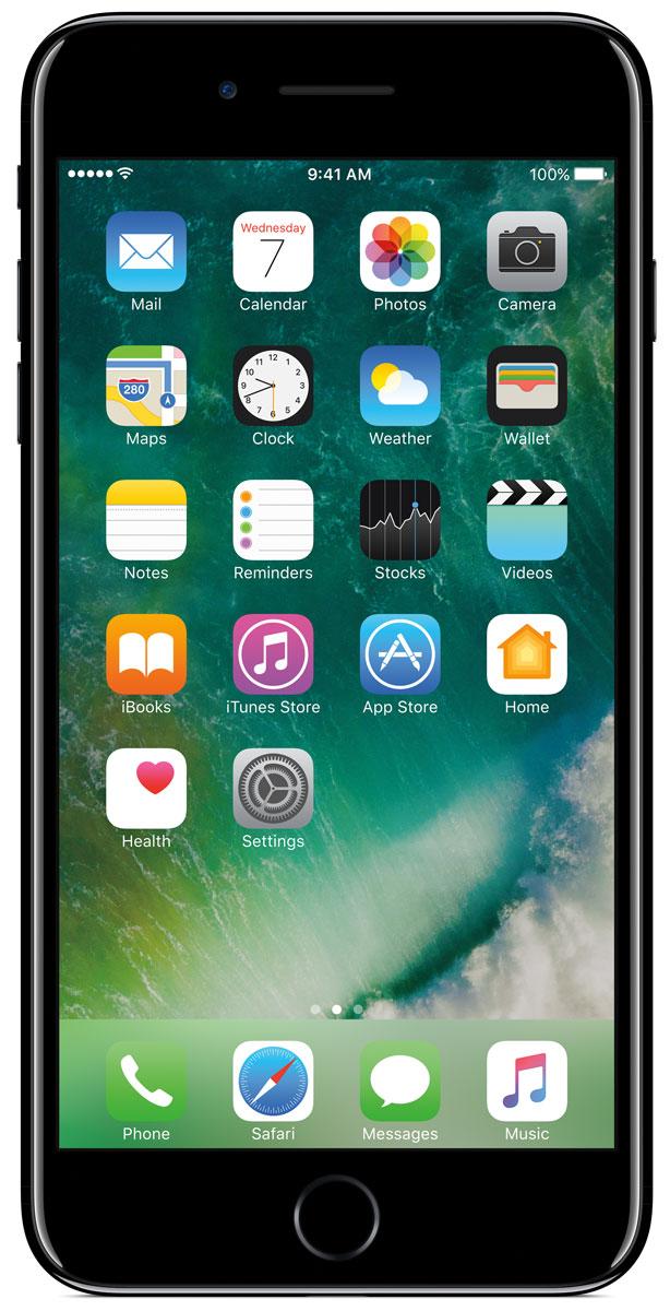 Apple iPhone 7 Plus 128GB, Jet BlackMN4V2RU/AiPhone 7 Plus оснащен передовыми камерами, которые позволяют делать невероятные снимки, увеличенной производительностью и самым долговечным аккумулятором среди всех iPhone, великолепными стереодинамиками, системой широкой цветопередачи от камеры к дисплею, доступны в двух новых великолепных цветах, а также впервые на iPhone - защита от воды и пыли. В iPhone 7 Plus встроена самая популярная в мире камера. Благодаря совершенно новым функциям она стала ещё лучше. 12-мегапиксельная камера в iPhone 7 Plus оснащена системой оптической стабилизации изображения, обладает расширенной диафрагмой f/1.8 и 6-элементным объективом для съёмки ещё более ярких и детальных фотографий и видео. Расширенный цветовой диапазон позволяет фиксировать яркие цвета во всех деталях. В iPhone 7 Plus встроена такая же 12-мегапиксельная широкоугольная камера, как в iPhone 7, а также камера с телеобъективом. Вместе они обеспечивают 2-кратный оптический зум и 10-кратный цифровой зум при...