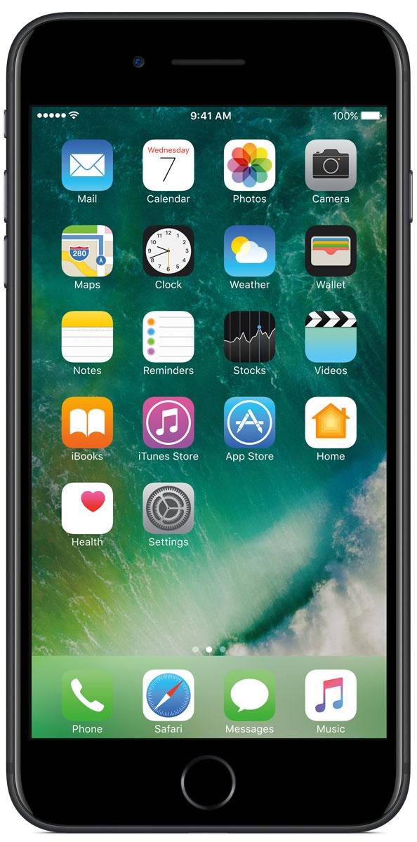 Apple iPhone 7 Plus 128GB, BlackMN4M2RU/AiPhone 7 Plus оснащен передовыми камерами, которые позволяют делать невероятные снимки, увеличенной производительностью и самым долговечным аккумулятором среди всех iPhone, великолепными стереодинамиками, системой широкой цветопередачи от камеры к дисплею, доступны в двух новых великолепных цветах, а также впервые на iPhone - защита от воды и пыли. В iPhone 7 Plus встроена самая популярная в мире камера. Благодаря совершенно новым функциям она стала ещё лучше. 12-мегапиксельная камера в iPhone 7 Plus оснащена системой оптической стабилизации изображения, обладает расширенной диафрагмой f/1.8 и 6-элементным объективом для съёмки ещё более ярких и детальных фотографий и видео. Расширенный цветовой диапазон позволяет фиксировать яркие цвета во всех деталях. В iPhone 7 Plus встроена такая же 12-мегапиксельная широкоугольная камера, как в iPhone 7, а также камера с телеобъективом. Вместе они обеспечивают 2-кратный оптический зум и 10-кратный цифровой зум при...