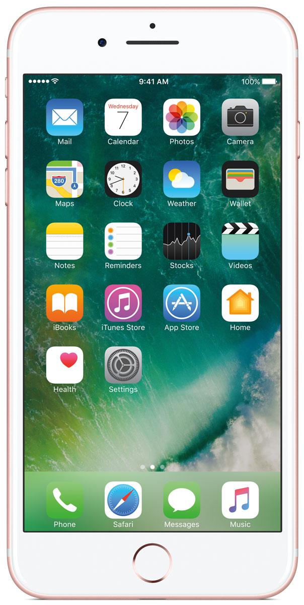 Apple iPhone 7 Plus 128GB, Rose GoldMN4U2RU/AiPhone 7 Plus оснащен передовыми камерами, которые позволяют делать невероятные снимки, увеличенной производительностью и самым долговечным аккумулятором среди всех iPhone, великолепными стереодинамиками, системой широкой цветопередачи от камеры к дисплею, доступны в двух новых великолепных цветах, а также впервые на iPhone - защита от воды и пыли. В iPhone 7 Plus встроена самая популярная в мире камера. Благодаря совершенно новым функциям она стала ещё лучше. 12-мегапиксельная камера в iPhone 7 Plus оснащена системой оптической стабилизации изображения, обладает расширенной диафрагмой f/1.8 и 6-элементным объективом для съёмки ещё более ярких и детальных фотографий и видео. Расширенный цветовой диапазон позволяет фиксировать яркие цвета во всех деталях. В iPhone 7 Plus встроена такая же 12-мегапиксельная широкоугольная камера, как в iPhone 7, а также камера с телеобъективом. Вместе они обеспечивают 2-кратный оптический зум и 10-кратный цифровой зум при...