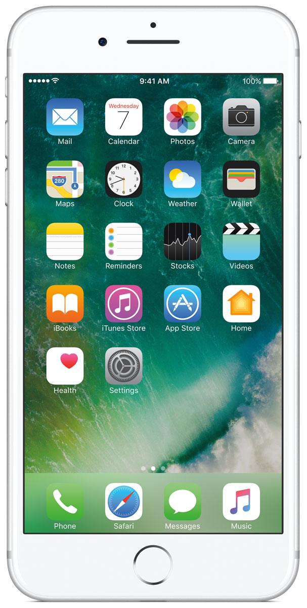 Apple iPhone 7 Plus 32GB, SilverMNQN2RU/AiPhone 7 Plus оснащен передовыми камерами, которые позволяют делать невероятные снимки, увеличенной производительностью и самым долговечным аккумулятором среди всех iPhone, великолепными стереодинамиками, системой широкой цветопередачи от камеры к дисплею, доступны в двух новых великолепных цветах, а также впервые на iPhone - защита от воды и пыли. В iPhone 7 Plus встроена самая популярная в мире камера. Благодаря совершенно новым функциям она стала ещё лучше. 12-мегапиксельная камера в iPhone 7 Plus оснащена системой оптической стабилизации изображения, обладает расширенной диафрагмой f/1.8 и 6-элементным объективом для съёмки ещё более ярких и детальных фотографий и видео. Расширенный цветовой диапазон позволяет фиксировать яркие цвета во всех деталях. В iPhone 7 Plus встроена такая же 12-мегапиксельная широкоугольная камера, как в iPhone 7, а также камера с телеобъективом. Вместе они обеспечивают 2-кратный оптический зум и 10-кратный цифровой зум при...