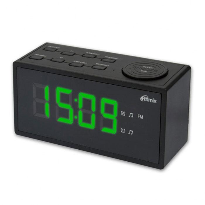 Ritmix RRC-1212, Black радиобудильникRRC-1212 BLACKRitmix RRC-1212 - это компактные FM-радиочасы с функцией будильника. Встроенный дисплей имеет большие яркие цифры высотой 3 см. Модель удобна и проста в управлении и имеет множество полезных функций: несколько будильников с возможностью повтора, таймер выключения, настройка 20 радиостанций и регулировка подсветки. Длина кабеля: 1,4 м