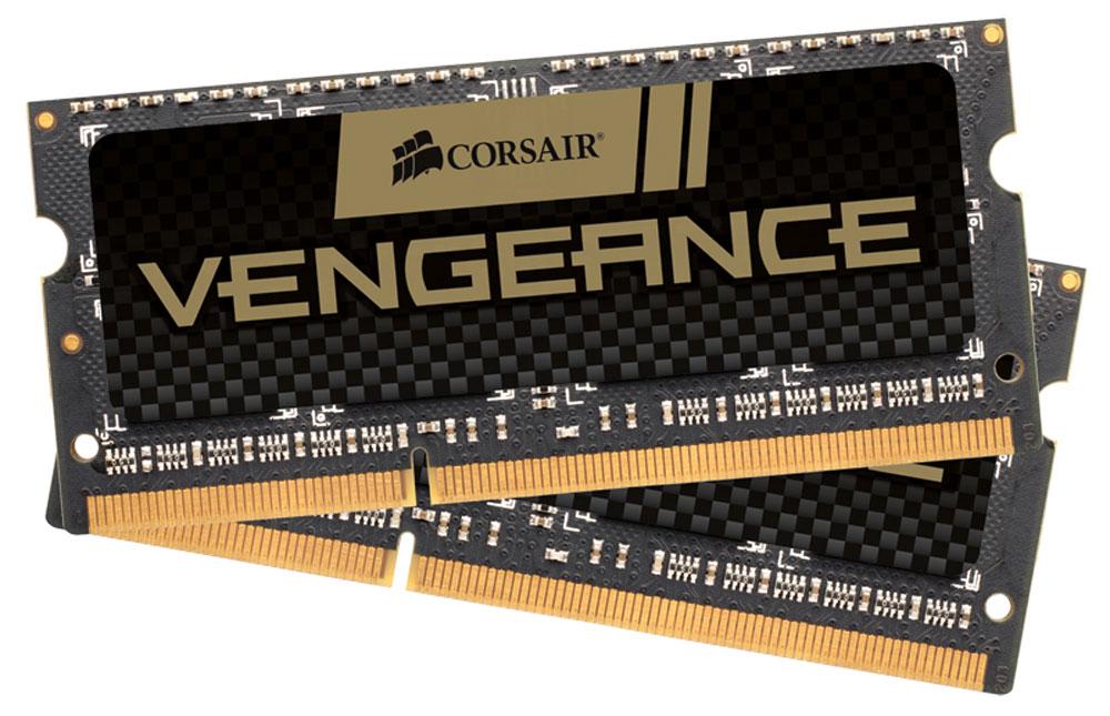 Corsair Vengeance DDR3 2x4Gb 1600 МГц комплект модулей оперативной памяти для ноутбука (CMSX8GX3M2A1600C9)CMSX8GX3M2A1600C9Если вы используете свой ноутбук для тяжелых приложений, таких как фото- и видеоредакторы, то он должен иметь столько памяти, насколько это возможно. Добавление комплекта памяти Corsair Vengeance DDR3 SODIMM позволит вам работать в многозадачном режиме между несколькими программами одновременно, загружать и редактировать большие файлы без задержек. Модули памяти Corsair Vengeance DDR3 SODIMM специально разработаны для ноутбуков, в которых установлены процессоры Intel Core i5/i7 второго или третьего поколения. Многие ноутбуки оснащены модулями памяти, которые не имеют возможности работать на максимальных частотах, которые поддерживают процессоры. С помощью комплекта высокопроизводительных модулей Corsair Vengeance DDR3 SODIMM ваш ноутбук автоматически определит самую высокую частоту, которую поддерживает память для наилучшей работы.