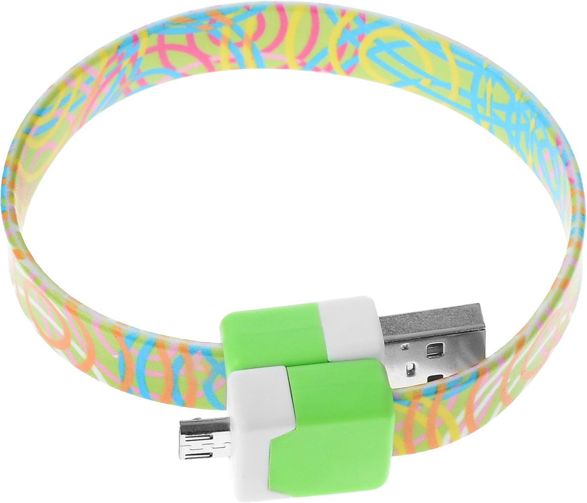 Кабель USB-micro USB 2.0, 25cм DVTech CB135 multicolor