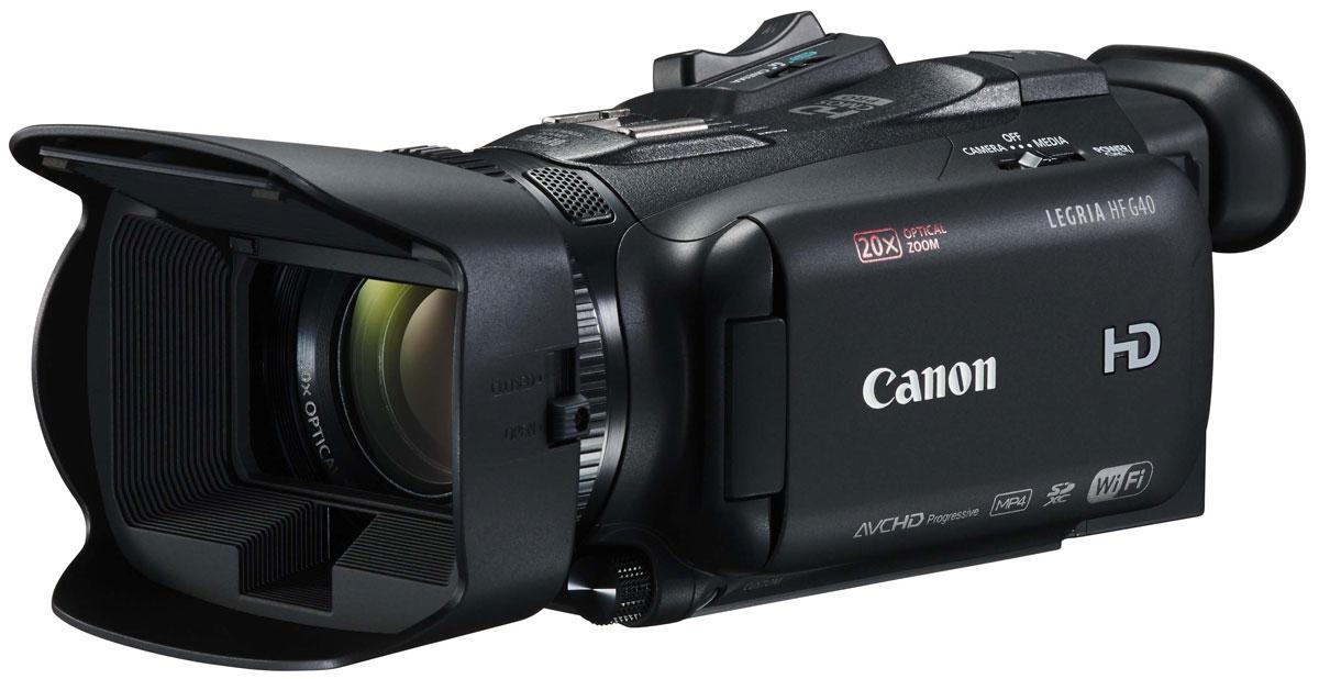 Canon LEGRIA HF G40, Black цифровая видеокамера1005C003Наслаждайтесь превосходным качеством изображения и управлением профессионального уровня с камерой Canon LEGRIA HF G40. Универсальная и удобная в использовании компактная ручная камера оснащена оптикой отличного качества, датчиком изображения HD CMOS PRO и режимом широкого динамического диапазона. Создавайте потрясающее видео AVCHD 1080p с высокой скоростью потока и различной частотой кадров при любом освещении благодаря широкому выбору профессиональных функций и средств ручного управления. К ним относятся: высокочувствительный 1/2,84-дюймовый датчик изображения CMOS PRO, большая 8-лепестковая диафрагма, режимы широкого динамического диапазона и приоритета светов, а также мощный оптический стабилизатор изображения. Камера Canon LEGRIA HF G40 обеспечивает невероятную универсальность работы в компактном корпусе для съемки с рук. Снимайте масштабные пейзажи и детализированные крупные планы с помощью светосильного широкоугольного зум-объектива 20x с...