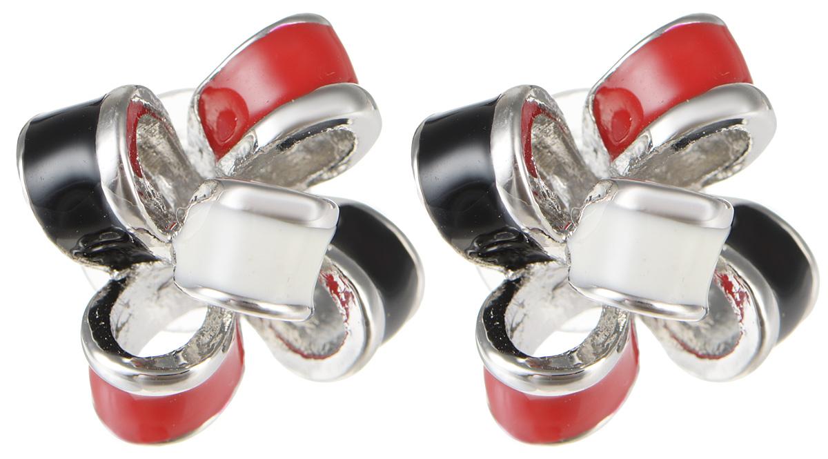 Серьги Fashion House, цвет: серебряный, красный, черный, белый. FH29161FH29161Оригинальные серьги от Fashion House идеально подчеркнут ваш образ. Серьги изготовлены из качественного металла. Декоративная часть выполнена в оригинальной форме и оформлена вставками из эмали. Такие стильные серьги помогут создать вам собственный неповторимый стиль.
