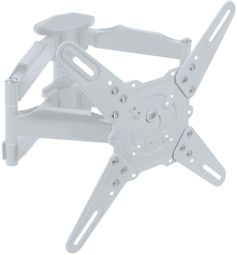 Kromax Atlantis-45, White кронштейн для ТВATLANTIS-45 WhiteKromax Atlantis-45 - это настенный наклонно-поворотный кронштейн для установки и монтажа вашего ТВ. Легкий монтаж при помощи съемной монтажной пластины. Скрытая система укладки кабеля в специальные кабель-каналы. Декоративные настенные накладки. Кронштейн поможет вам не только сэкономить пространство в помещении, но и установить ваш ТВ на необходимую, удобную для вас высоту, а также стильно и оригинально оформить свое жилище.