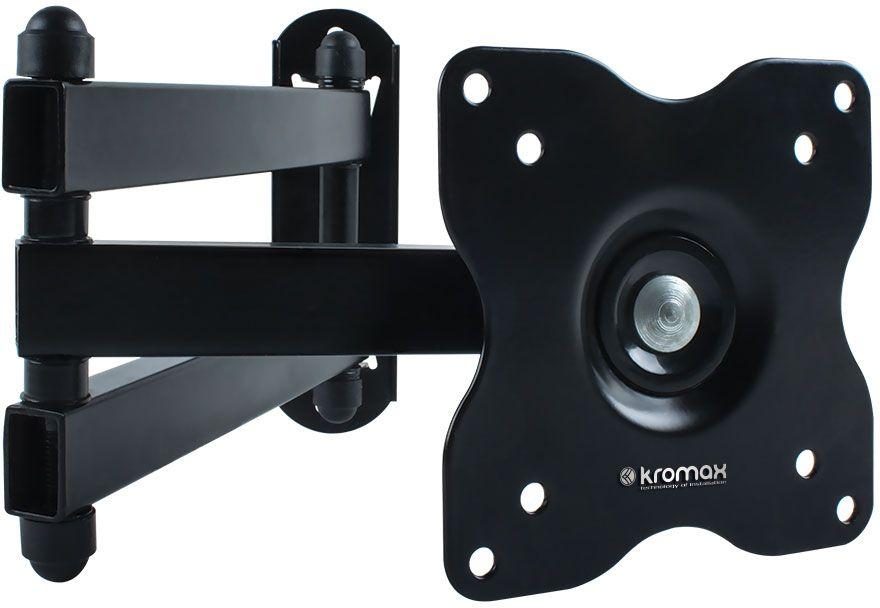 Kromax DIX-15, Black кронштейн для ТВDIX-15Kromax DIX-15 - это настенный наклонно-поворотный кронштейн для установки и монтажа вашего ТВ. Кронштейн поможет вам не только сэкономить пространство в помещении, но и установить ваш ТВ на необходимую, удобную для вас высоту, а также стильно и оригинально оформить свое жилище.