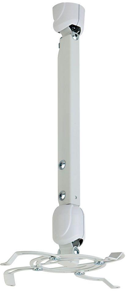 Kromax Projector-400w, White потолочный кронштейн для проекторовPROJECTOR-400wПотолочный кронштейн Kromax Projector-400w для проекторов. Надежная стальная конструкция Быстрая установка и снятие проектора Максимальная степень подвижности проектор можно вращать на 360° и наклонять на ±30° Декоративные пластиковые накладки Кабель-канал Регулируемая высота штанги от  мм до 811 мм.
