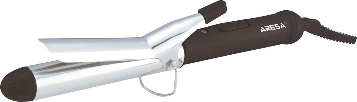 Aresa AR-3307 электрощипцы для волосAR-3307Завить красивые локоны можно максимально просто, если воспользоваться удобными электрощипцами Aresa AR-3307. Мощность в 25 Ватт позволяет создавать локоны щадящим и бережным способом. Для удобства использования в приборе предусмотрена подставка и термоизолированный наконечник. Быстрый нагрев Световой индикатор включения.