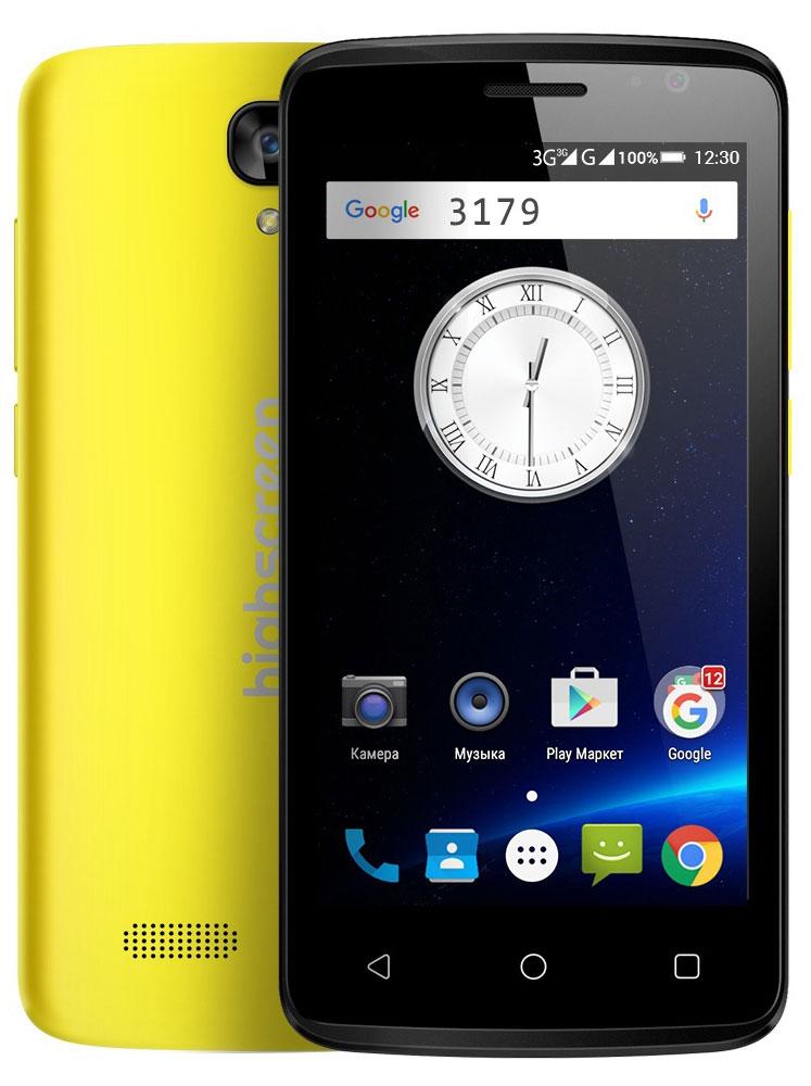 Highscreen Easy F, Yellow23429HIghscreen Easy F - это первый и самый доступный смартфон новой линейки Easy. Матовый шероховатый корпус имеет идеальную эргономику и сбалансированные размеры для комфортного управления одной рукой. Если ты мечтаешь о смартфоне, но нет желания переплачивать - Easy F станет правильным выбором и позволит получить максимальный опыт от его использования. Highscreen Easy F работает на базе чистого Android Lollipop, производители преднамеренно не ставят дополнительные приложения и игры, что бы не занимать лишнюю память и дать свободу выбора. Сбалансированный и энергоэффективный процессор MT 6580 легко поможет с решением и выполнением повседневных задач. Удобный дисплей 4.5, позволит насладиться четким и ярким изображением, испытай все переплести качественного экрана в твоем смартфоне! Ты можешь легко перейти на Easy благодаря поддержки сразу двух SIM-карт. Первая SIM имеет стандартный размер Mini, а вторая Micro. Выбирай выгодные тарифы и...