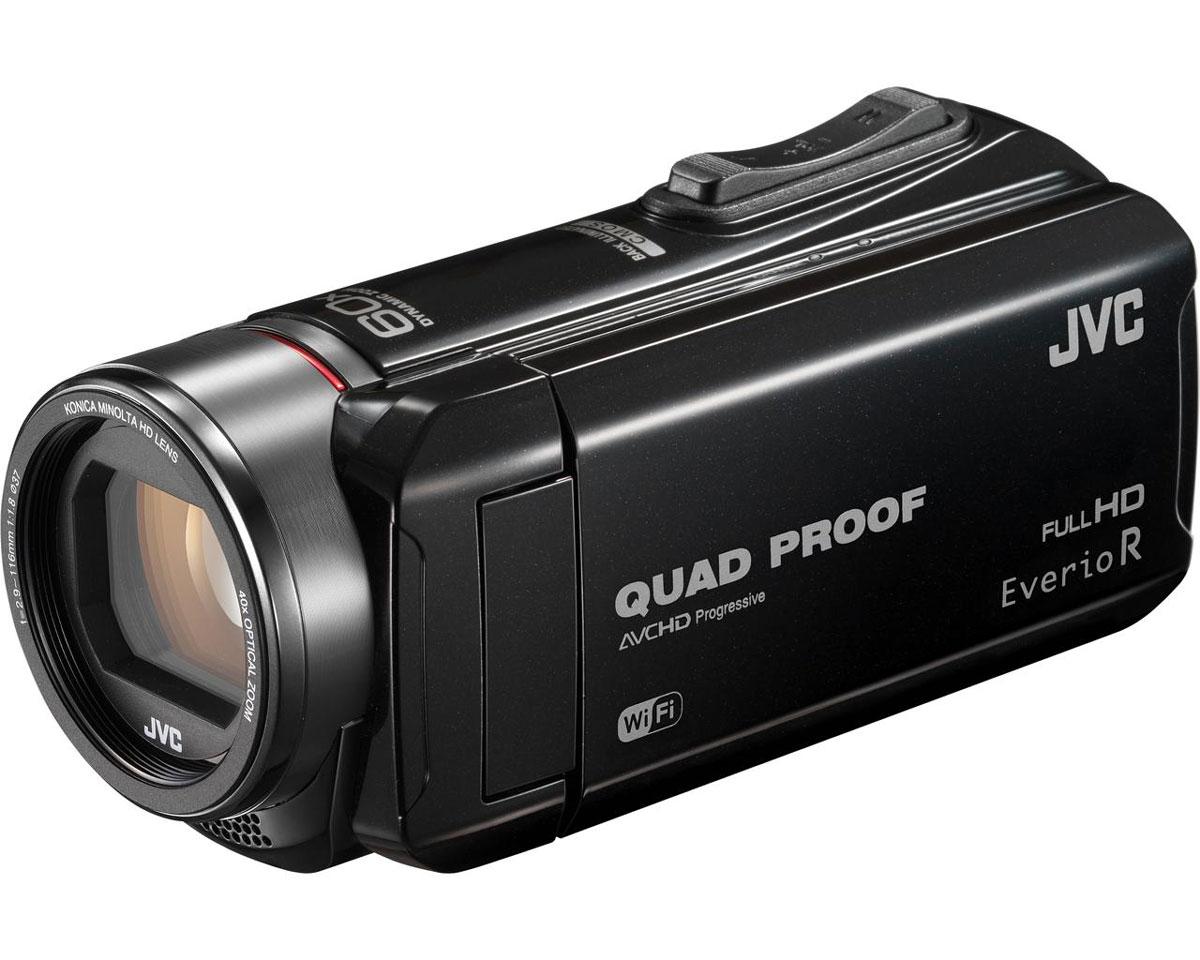 JVC GZ-RX610, Black цифровая видеокамераGZ-RX610BEUJVC GZ-RX610 - всепогодная видеокамера с технологией Quad-Proof, обеспечивающей устойчивость к падениям, защиту от брызг, дождя и снега, а также с аккумулятором, работающим без подзарядки до 5 часов подряд. Видеокамера оснащена CMOS матрицей с обратной подсветкой, оптическим зумом 40х и улучшенной стабилизацией изображения. Осуществление записи при закрытом дисплее и резьба под фильтр 37 мм, помогут осуществить все творческие задумки. Также для JVC GZ-RX610 характерна высокая скорость записи цифрового потока (24 Мбит/с). Данная модель водонепроницаема при погружении на глубину до 5 м. После активного дня, проведённого на свежем воздухе, её можно вымыть под проточной водой. Прочный корпус выдерживает падение с высоты до 1,5 м. Он защищён от влаги и пыли и рассчитан на работу в широком диапазоне температур. Аккумулятор встроен внутрь корпуса, что обеспечивает ещё более высокую защиту от влаги и позволяет существенно сократить опасность повреждения...