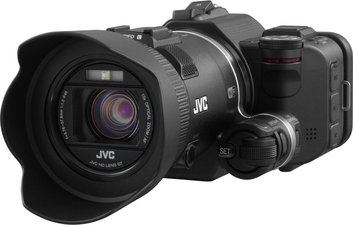 JVC GC-PX100, Black цифровая видеокамераGC-PX100BEUКамера JVC GC-PX100 предлагает более широкие возможности, чем предполагает потребитель. Модель характеризуется возможностью получения изображений в формате Full HD 1920x1080/60P на 36Mbps. Наличие полного диапазона скоростей записи (от покадровой до высокоскоростной) выгодно сочетается с переключением на отдельном циферблате, находящимся недалеко от объектива. Для получения эффекта замедления чрезмерно быстрых движений для обработки или анализа предназначена встроенная функция, позволяющая формату Full HD воспроизводить замедленное видео. Камера GC-PX100 может снимать в форматах AVCHD, MP4 и MOV, включая формат iFrame, совместимый с 720p. Съемка в режиме MOV обеспечивает звукозапись в Linear PCM, что способствует неизменно высокому качеству звука. Яркий широкоугольный объектив F1.2 GT, 1/2.3, 12.8 мегапиксельный CMOS -сенсор с задней подсветкой в сочетании с оптическим стабилизатором изображения предполагает получение высококачественных четких картинок. ...