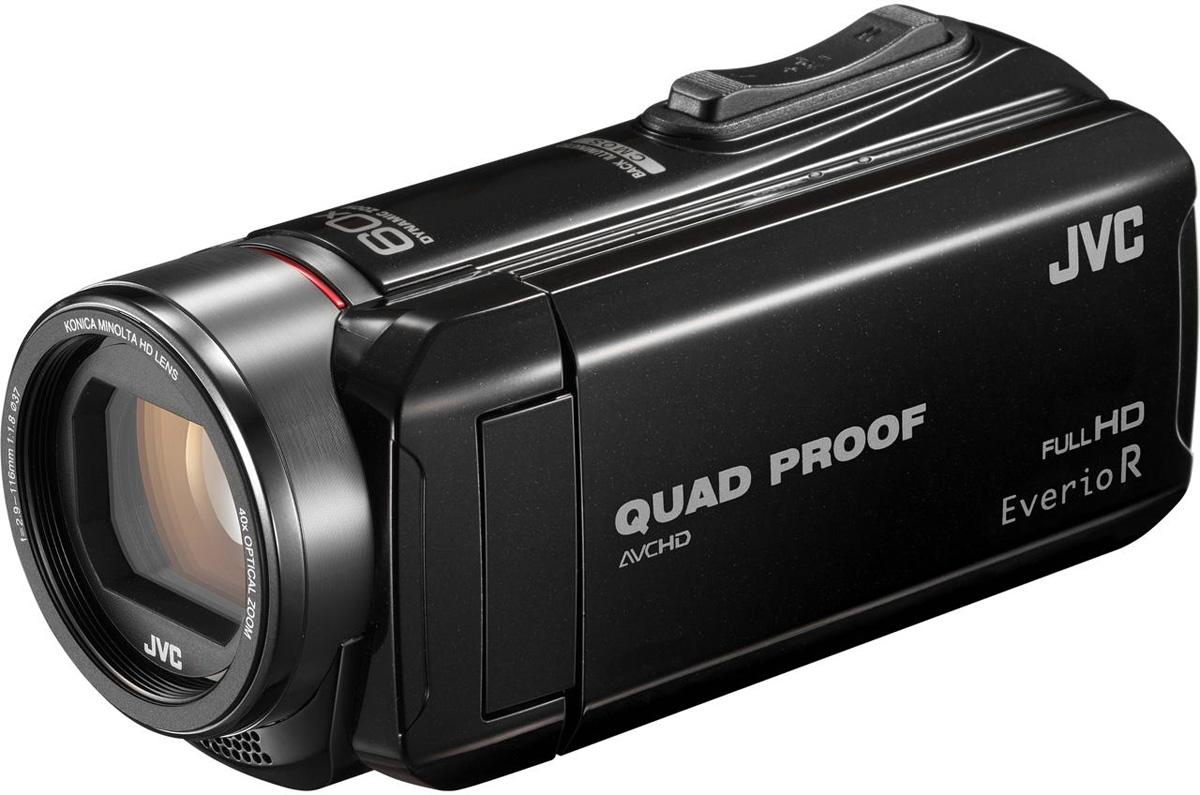 JVC GZ-R410, Black цифровая видеокамераGZ-R410BEUВидеокамера JVC GZ-R410 с 4 степенями защиты Quad-Proof, встроенным аккумулятором, который обеспечит работу камеры до 5 часов, CMOS матрицей с обратной подсветкой, 40х оптический зум с улучшенной стабилизацией изображения. Осуществление записи при закрытом дисплее и резьба под фильтр 37 мм помогут осуществить все творческие задумки. Поддержка переносных аккумуляторов и USB-зарядки Записи в формате AVCHD Full HD Высокая скорость записи цифрового потока (24 Мбит/с) Технология Super LoLux с КМОП-сенсором с задней подсветкой Улучшенный стабилизатор изображения (AIS) Интеллектуальная функция автоматической настройки Запись через установленные интервалы Запись видео при закрытом ЖКД дисплее Вариомикрофон Запоминание положения зума Функция интеллектуального распознавания лиц Face Detection Технология K2 в режим записи Автоматическая блокировка шума Auto Wind Cut Фотографии с разрешением 10 мегапикселей ...