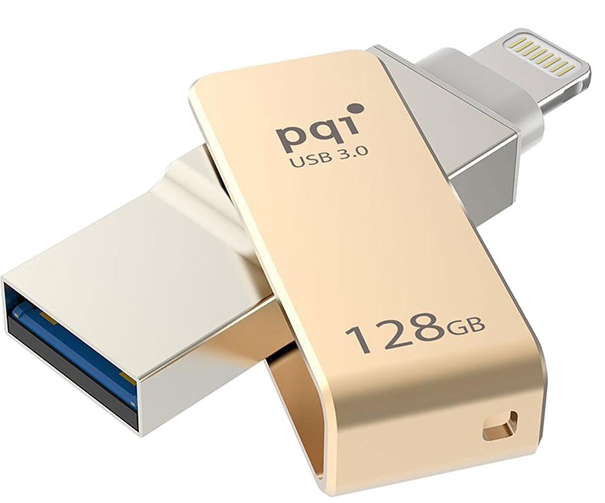 PQI iConnect mini 128GB, Gold флеш-накопитель 6I04-128GR2001