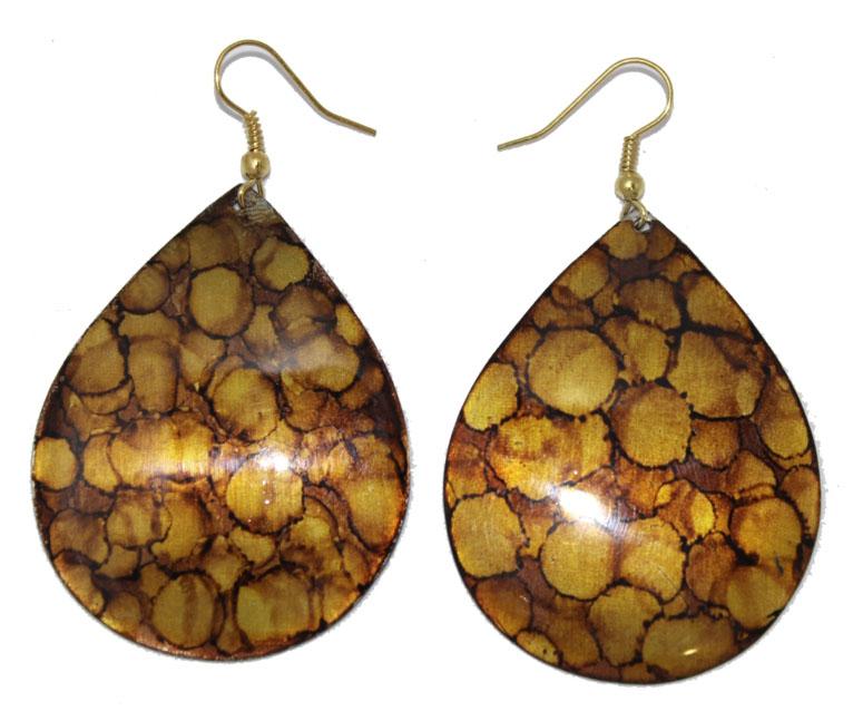 Серьги Ethnica, цвет: коричневый. 328075328075-коричневыйСерьги Ethnica выполнены из металла в виде капель. Изделие оснащено удобным замком-петлей.