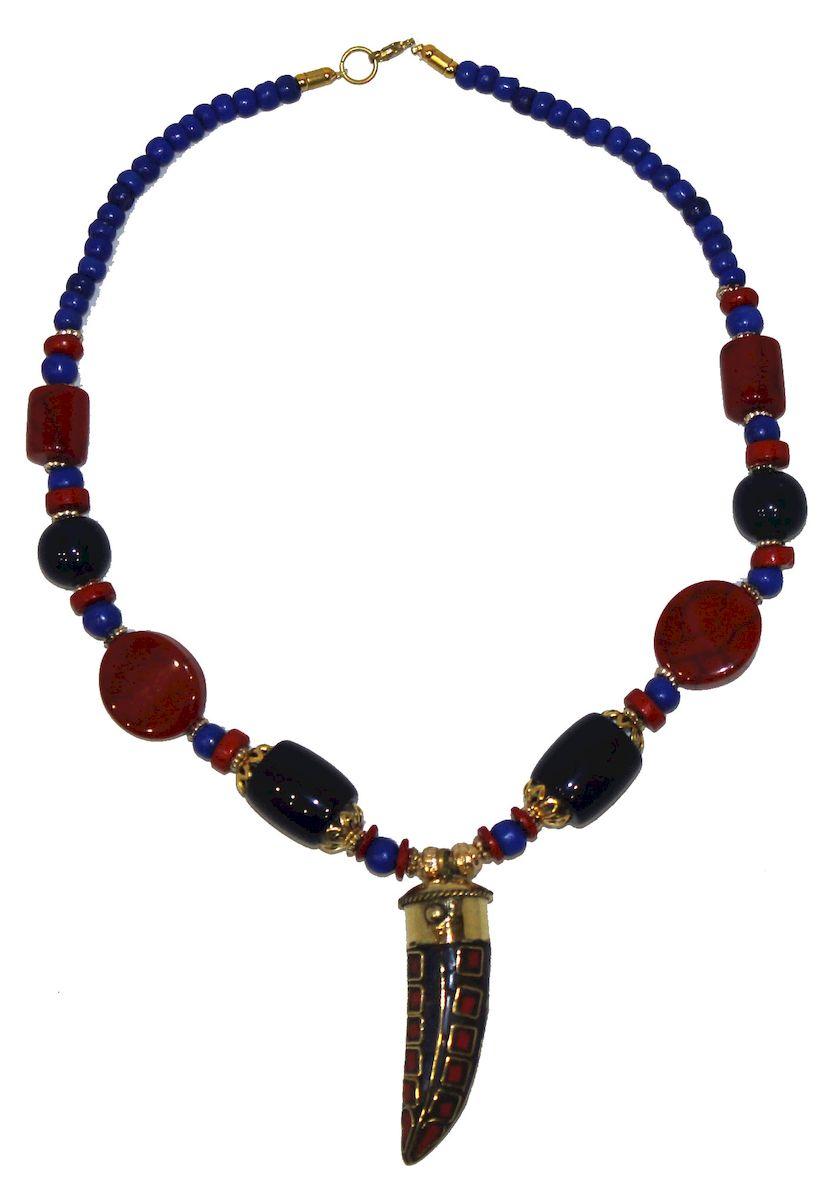 Ожерелье Ethnica, цвет: мультиколор. 347150_3347150-мультиколор-3Ожерелье от Ethnica оформлено бусинами разного диаметра и дополнено оригинальной подвеской. Изделие застегивается на замок-карабин.