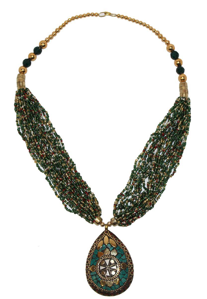 Ожерелье Ethnica, цвет: мультиколор. 349150_1349150-мультиколор-1Роскошное ожерелье от Ethnica оформлено бусинами и бисером и дополнено оригинальной подвеской. Изделие застегивается на замок-карабин.