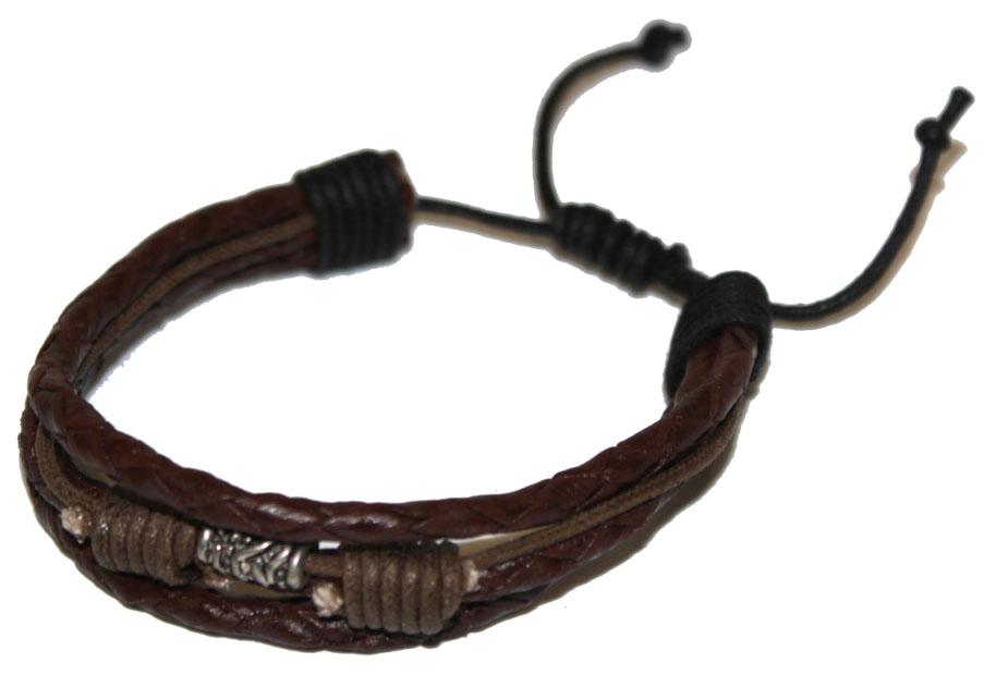 Браслет Ethnica, цвет: коричневый. 352045352045-коричневый