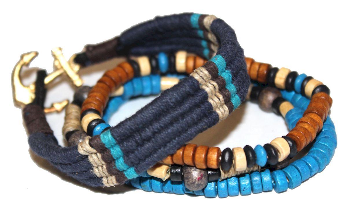 Браслет Ethnica, цвет: голубой. 366070366070-голубой