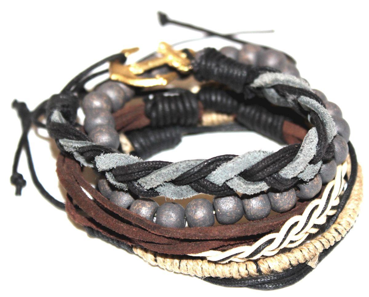 Браслет Ethnica, цвет: серый, черный, коричневый. 360095360095