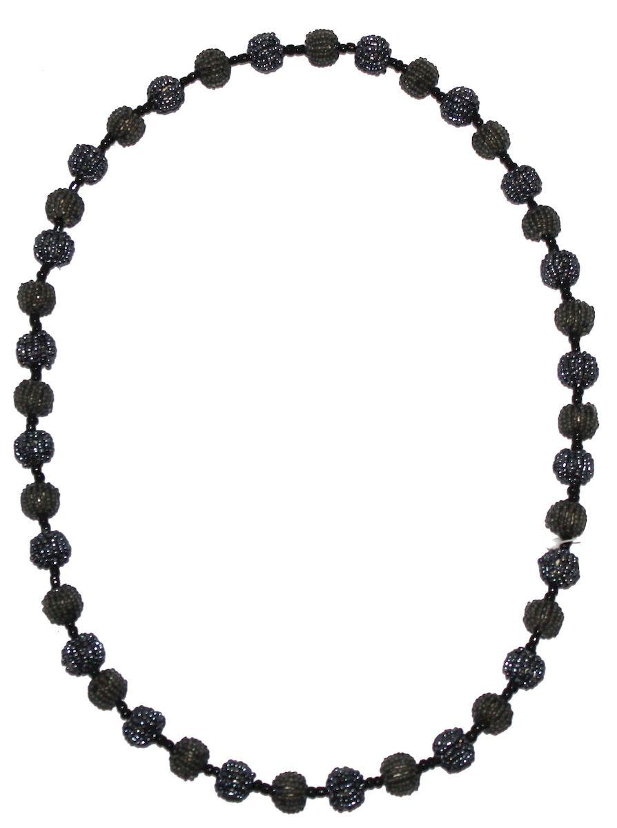 Бусы Ethnica, цвет: серый. 346095346095-серыйБусы от Ethnica выполнены в виде небольших шариков и дополнены бисером.