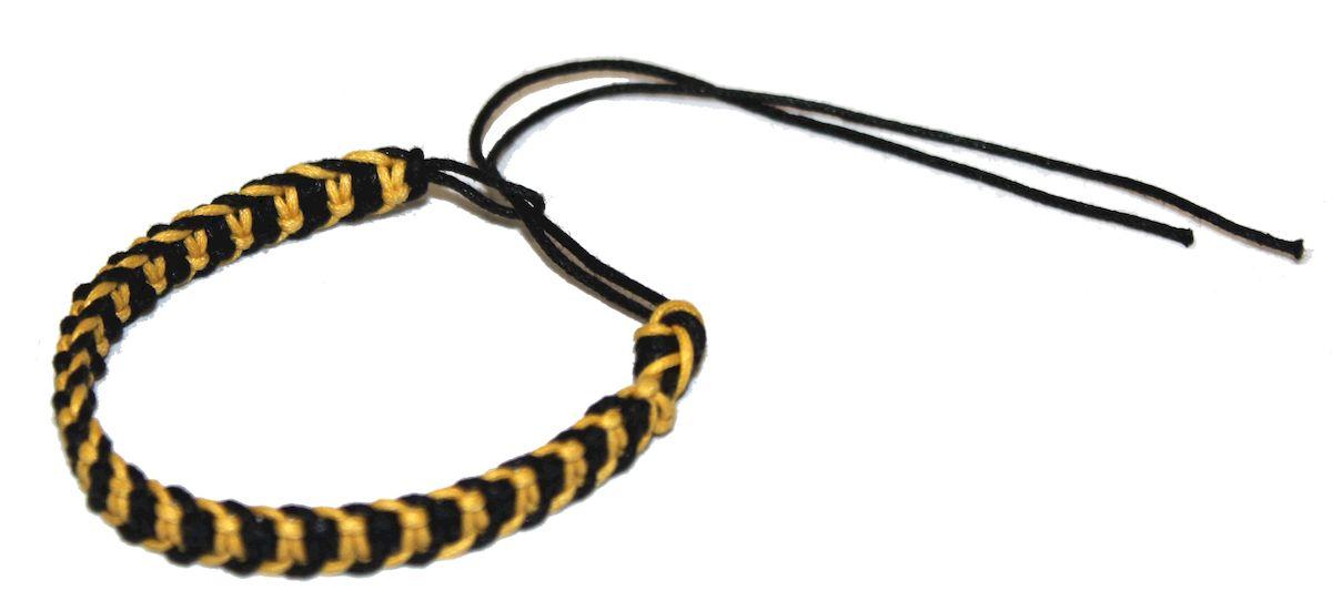 Браслет-фенечка Ethnica, цвет: желтый. 337012337012-желтыйОригинальный браслет-фенечка Ethnica выполнен из разноцветных нитей. Браслет регулируется по размеру при помощи скользящего замка.
