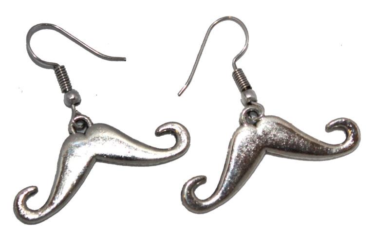 Серьги Ethnica, цвет: серебряный. 327035327035-серебряныйСерьги Ethnica выполнены из металла в форме усов. Изделие оснащено удобным замком-петлей.
