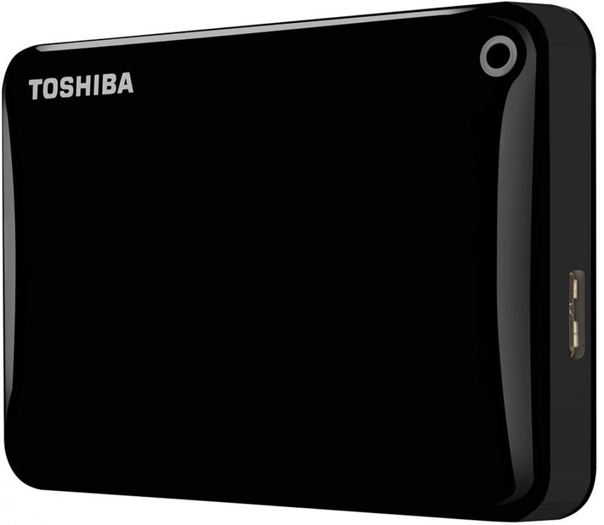 Toshiba Canvio Connect II 3TB, Black внешний жесткий диск (HDTC830EK3CA)HDTC830EK3CAToshiba Canvio Connect II дает вам возможность быстро передавать файлы с интерфейсом USB 3.0 и хранить до 3 ТБ данных на внешнем жестком диске. Устройство полностью готово для работы с Microsoft Windows и не требует установки программного обеспечения, так что ничего не может быть удобнее для хранения всех ваших любимых файлов. В офисе или в дороге его классический дизайн будет всегда уместен. Более того, Toshiba Canvio Connect II позволяет подключаться также и к оборудованию с совместимостью USB 2.0. Этот внешний накопитель обеспечивает доступ к вашим файлам практически из любого места и с любого устройства. Toshiba Canvio Connect II может легко превратить ваш компьютер в облачный сервер благодаря предустановленному ПО для удаленного доступа (накопитель должен быть подключен к компьютеру и Wi-Fi). Помимо удаленного доступа это устройство предоставляет своему владельцу 10 ГБ дополнительного места в облачном сервисе. Программное обеспечение NTI Backup Now EZ обеспечивает...