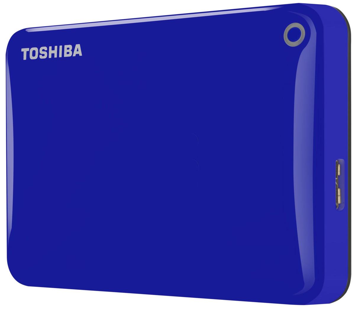 Toshiba Canvio Connect II 500GB, Blue внешний жесткий диск (HDTC805EL3AA)HDTC805EL3AAToshiba Canvio Connect II дает вам возможность быстро передавать файлы с интерфейсом USB 3.0 и хранить большое количество данных на внешнем жестком диске. Устройство полностью готово для работы с Microsoft Windows и не требует установки программного обеспечения, так что ничего не может быть удобнее для хранения всех ваших любимых файлов. В офисе или в дороге его классический дизайн будет всегда уместен. Более того, Toshiba Canvio Connect II позволяет подключаться также и к оборудованию с совместимостью USB 2.0. Этот внешний накопитель обеспечивает доступ к вашим файлам практически из любого места и с любого устройства. Toshiba Canvio Connect II может легко превратить ваш компьютер в облачный сервер благодаря предустановленному ПО для удаленного доступа (накопитель должен быть подключен к компьютеру и Wi-Fi). Помимо удаленного доступа это устройство предоставляет своему владельцу 10 ГБ дополнительного места в облачном сервисе. Программное обеспечение NTI...