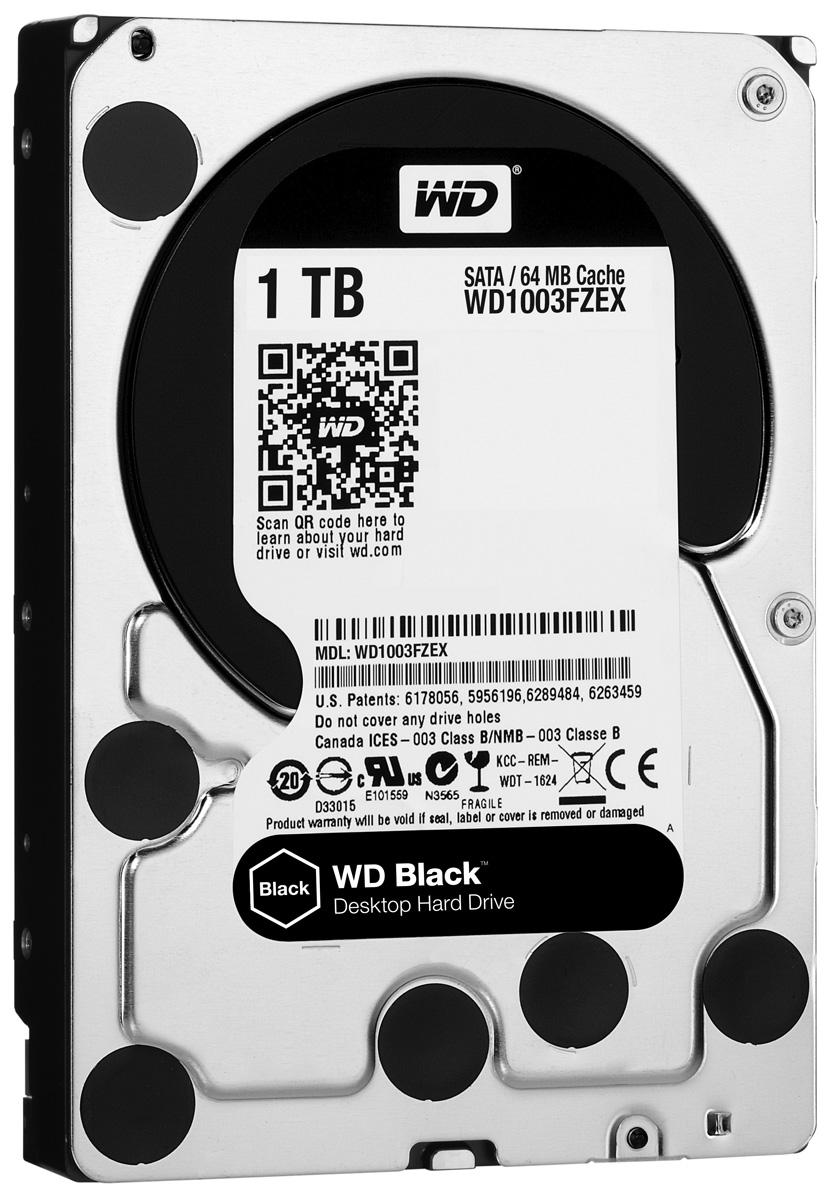 WD Black 1TB внутренний жесткий диск (WD1003FZEX)WD1003FZEXНакопители WD Black предназначены для настольных ПК и рассчитаны на опытных пользователей, которым нужно высокое быстродействие. Накопители WD Black станут незаменимыми помощниками для каждого творческого человека - фотографа, режиссера видеомонтажа, художника компьютерной графики или пользователя, желающего создать собственную систему. Благодаря беспрецедентному быстродействию они прекрасно подходят для хранения больших мультимедийных файлов (фотоснимков, видео или приложений). Эти жесткие диски специально для ресурсоемких задач и превосходно подходят для игр. Они такие емкие, что на них с легкостью поместится вся игровая библиотека и даже останется место для ее пополнения. Этот накопитель обеспечит вашему игровому ПК достаточно емкости для загрузки дополнительного игрового контента и максимальное быстродействие за счет твердотельного компонента, так что у вас еще не скоро возникнет потребность в его модернизации. На каждый диск WD...