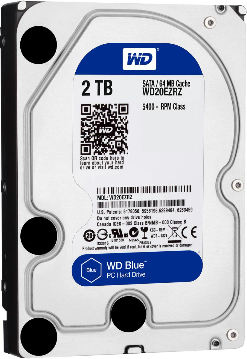 WD Blue 2TB внутренний жесткий диск (WD20EZRZ)WD20EZRZУвеличьте емкость ПК с помощью накопителей WD Blue, разработанных специально для настольных и моноблочных ПК. Линейка накопителей WD Blue позволяет увеличить объем хранения данных до 6 ТБ. Накопители WD поставляются с бесплатным доступом к программе WD Acronis True Image. Функции резервного копирования и восстановления позволяют легко сохранять и извлекать личные данные без переустановки системы. Каждый накопитель WD Blue проектируется, тестируется и производится на совесть. Кроме того, на все накопители этой линейки предоставляется двухгодичная гарантия. Технология бесконтактного считывания NoTouch обеспечивает безопасное расположение записывающей головки относительно поверхности накопителя для защиты данных. Данная модель также оснащена функцией IntelliSeek. Она вычисляет оптимальное время поиска, что помогает уменьшить уровень энергопотребления, шума и вибрации.