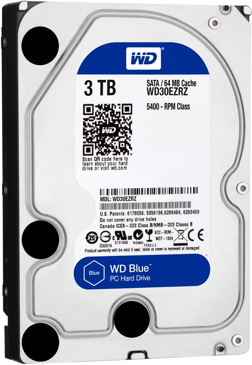 WD Blue 3TB внутренний жесткий диск (WD30EZRZ)WD30EZRZУвеличьте емкость ПК с помощью накопителей WD Blue, разработанных специально для настольных и моноблочных ПК. Линейка накопителей WD Blue позволяет увеличить объем хранения данных до 6 ТБ. Накопители WD поставляются с бесплатным доступом к программе WD Acronis True Image. Функции резервного копирования и восстановления позволяют легко сохранять и извлекать личные данные без переустановки системы. Каждый накопитель WD Blue проектируется, тестируется и производится на совесть. Кроме того, на все накопители этой линейки предоставляется двухгодичная гарантия. Технология бесконтактного считывания NoTouch обеспечивает безопасное расположение записывающей головки относительно поверхности накопителя для защиты данных. Данная модель также оснащена функцией IntelliSeek. Она вычисляет оптимальное время поиска, что помогает уменьшить уровень энергопотребления, шума и вибрации.