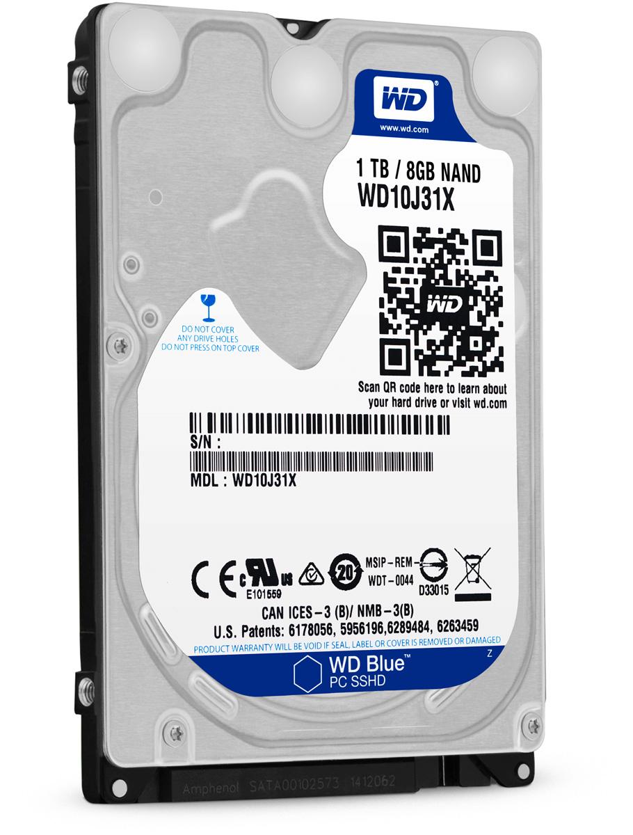 WD Blue 1TB внутренний жесткий диск (WD10J31X)WD10J31XЖёсткий диск WD Blue™ WD10J31X 1000ГБ 2,5 5400RPM 64МB (SATA-III) PC SSHD