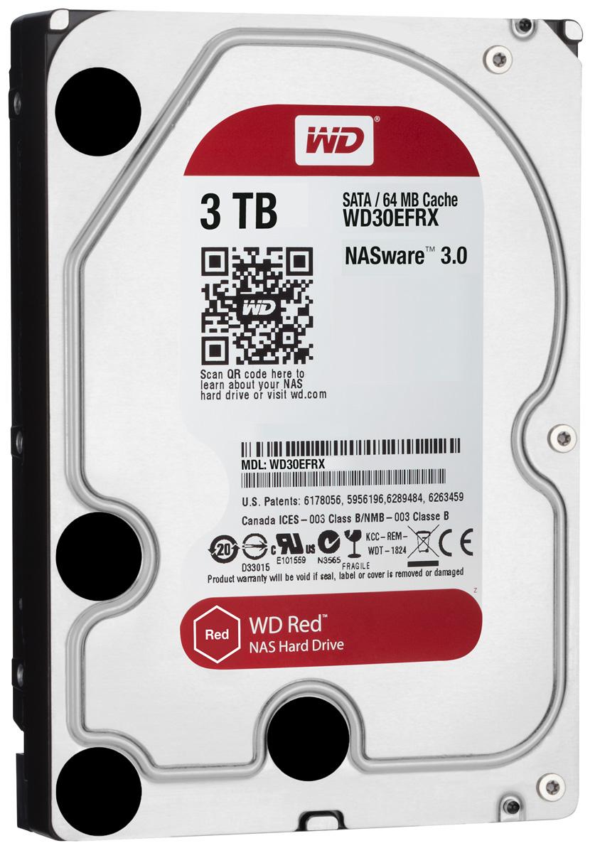 WD Red 3TB внутренний жесткий диск (WD30EFRX)WD30EFRXЧтобы быстро и удобно транслировать медиафайлы, создавать резервные копии данных, хранящихся на ПК, обмениваться файлами и работать с цифровыми материалами, установите в сетевом устройстве хранения накопители WD Red. Удобная интеграция, надежная защита данных и оптимальное быстродействие для систем NAS с высокими требованиями. Транслируйте цифровые материалы, выполняйте их резервное копирование, систематизируйте их и отправляйте на телевизор, ПК и другие устройства. Технология NASware повышает совместимость ваших накопителей с системами NAS, обеспечивая тем более высокое качество воспроизведения цифровых материалов на устройствах. В основе процветания любого бизнеса лежат производительность и эффективность. И именно этими двумя принципами WD руководствовались, разрабатывая накопители Red. Благодаря накопителю WD Red в системах NAS вы сможете предоставлять общий доступ к файлам и выполнять их резервное копирование с той же скоростью, с какой...